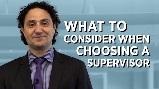 Download What to Consider When Choosing a PhD Supervisor Video