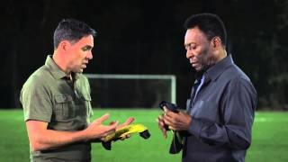 Download Pelé smashes bottles at World Cup host city to demonstrate new shin guard technology Video