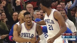 Download Robert Covington Game Winner! Embiid Injury Scare - Blazers vs 76ers 1-20-2017 Video