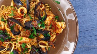 Download Seafood Fra Diavolo with Linguini Video