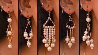 Download 5 easy Pearl Earring Design | DIY | 5 min Craft | Hand made jewelry | Art with Creativity Video