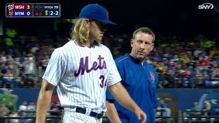 Download WSH@NYM: Syndergaard pulled in the 5th with injury Video