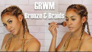 Download GRWM Bronze and Braids Video