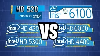 Download Intel HD 520 vs iris 6100/ HD 4200 5300 4400 6000, Surface Pro 4 i5 6300U vs Surface Pro 2/3 i5 Video