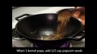 Download Wok Corn: Cooking Popcorn in a Cast Iron Wok Video