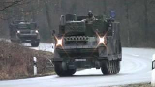 Download Bundeswehr-Kolone auf´m Panzerring Bergen Video