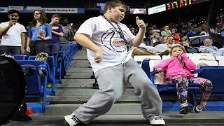 Download Kid Started DANCING Like No One's Watching during Basketball Game & STOLE THE SHOW- A Born Artist!!! Video