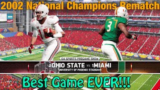 Download BEST GAME EVER | Miami vs Ohio State National Championship | NCAA Football Dynasty Video