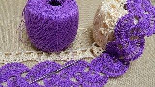 Download Orilla # 14 Abanicos dos colores Crochet parte 1 de 2 Video