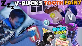 Download FORTNITE TOOTH FAIRY gives V-BUCKS!! Chase Lost 1st Tooth & OREO's Birthday Treat FUNnel Vision Vlog Video