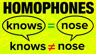 Download 500+ American English Homophones with Pronunciation Video