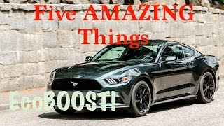 Download Five AMAZING Things about a 2016 Ford Mustang EcoBoost Premium Video