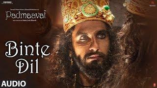 Download Padmaavat: Binte Dil Audio | Arijit Singh | Deepika Padukone | Shahid Kapoor | Ranveer Singh Video