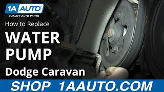 Download How To Install Replace Water Pump 2001-07 3.3L 3.8L Dodge Caravan Chrysler Town and Country Video