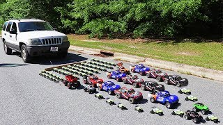 Download How Many Toy Cars Does It Take To Pull A Real Car? Video