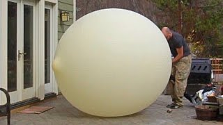 Download 40 Feet Weather Balloon Overfilled + Slow motion Video