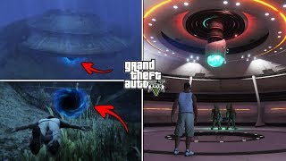 Download What Happens If You Visit the Underwater UFO in GTA 5 After 100% Completion? (Hidden Entrance) Video