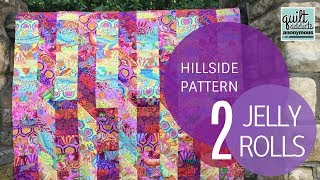 Download Hillside Quilt Pattern Video Tutorial - Uses 2 Jelly Rolls! Video