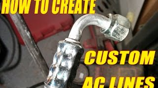Download How to make custom A/C lines! Using Mastercool Manual hose crimper. Video