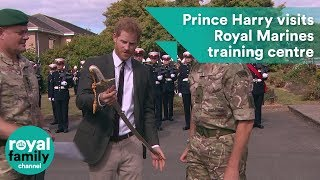 Download Prince Harry visits Royal Marines Commando Training Centre Video