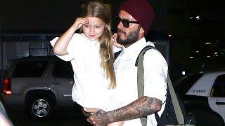 Download David Beckham Carries Daughter Harper Through LAX Video