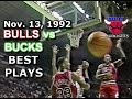 Download November 13 1992 Bulls vs Bucks highlights Video