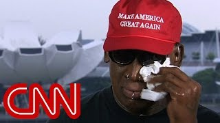 Download Dennis Rodman gets emotional after Trump-Kim summit Video