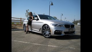 Download 2018 BMW 540i with M Sport Package / 20″ M Wheels / Rhodonite Silver / BMW Review Video