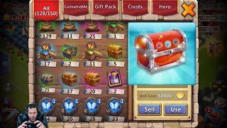 Download 170000 Might Free 2 Play Rolling 25000 Gems For Heroes Castle Clash Video