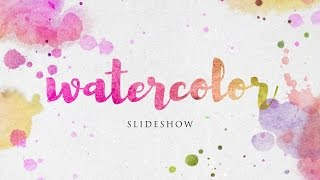 Download Watercolor Slideshow - After Effects Template Video