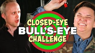 Download The $100 Closed-Eye Bull's-Eye Challenge Video