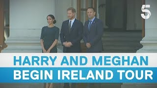 Download Meghan Markle and Prince Harry begin tour of Ireland - 5 News Video