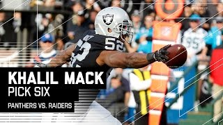 Download Khalil Mack Pick 6's Cam Newton! | Panthers vs. Raiders | NFL Video
