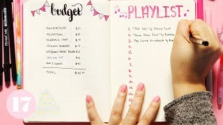 Download Party Planning Spread Ideas For Your Bullet Journal | Plan With Me Video