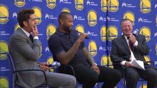 Download Warriors didn't run Cousins signing by Klay because 'He doesn't care who's on the team' Video