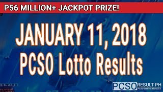 Download PCSO Lotto Results Today January 11, 2018 (6/49, 6/42, 6D, Swertres, STL & EZ2) Video
