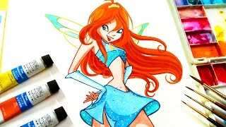 Download Drawing and paint Bloom from winx club✿magic winx bloom ✿ Video