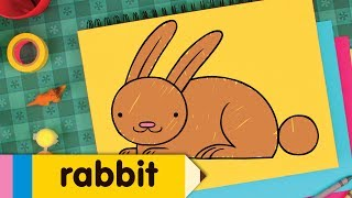 Download How To Draw A Rabbit | Easy Drawing Lessons for Kids Video
