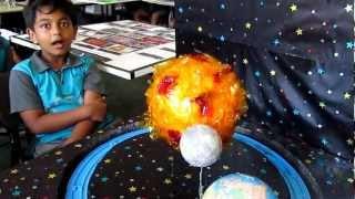 Download Grade Three science project Earth, Moon & Sun Video
