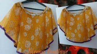 Download cape drape top cutting and stitching with measurement Video
