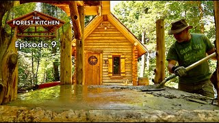 Download Table Made of Mud | The Forest Kitchen | Off Grid Log Cabin Build, Ep.9 S1 Video
