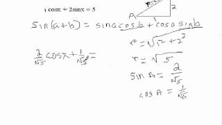 Download Trig Equations of the Form Acosx + Bsinx = c Video