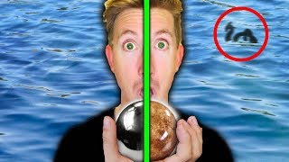 Download MONSTER IN POND FOUND with MIRROR POLISHED JAPANESE FOIL BALL vs SHINY DIRT BALL (EGGS) Video