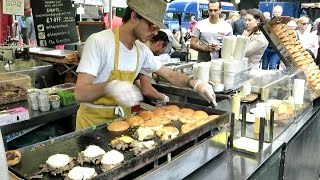 Download London Street Food. The Duck Meat Burger. Real Time Preparation. French Cuisine Video
