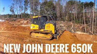 Download John Deere 650k dozer building a logging road Video
