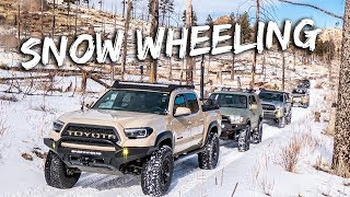 Download SNOW WHEELING! - Casual day trip, hangs, and weiners with Tacomas, 4runners, and a Jeep Video
