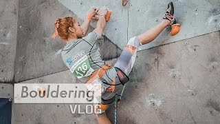 Download Jain Kim shows perfect rock climbing technique Video