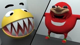 Download Pacman vs Uganda Knuckles vs Mario and Sonic Video