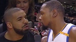 Download Kevin Durant Threatens Drake With Death Stare After Drake Bumps Him Video