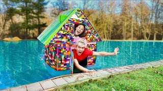Download LEGO BOX FORT ON WATER!! Video